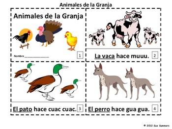 Spanish Farm Animals 2 Emergent Readers / Animales de la Granja Booklets