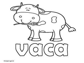 Spanish Farm Animals Coloring Pages