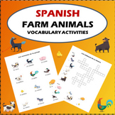 Spanish Farm Animals Vocabulary Activities Crossword Puzzl