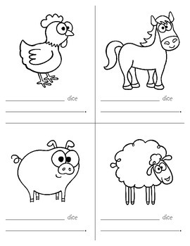 Spanish Farm Animals Song and Booklet Project