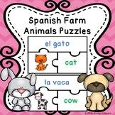 Spanish Farm Animals Game Puzzle ELL Newcomer Activity Los Animales de La Granja