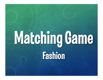 Spanish Fashion Matching Game