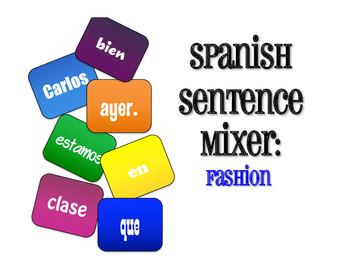 Spanish Fashion Sentence Mixer