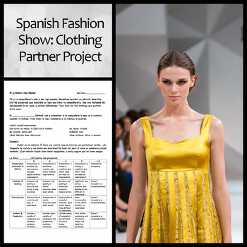 Spanish Fashion Show Project with Clothing Vocabulary