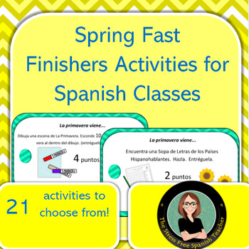 Spanish Fast Finishers activities for Spring! Printables,