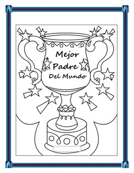 Spanish Father's Day- Students Make a Father's Day Trophy