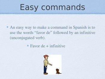 Spanish Favor De Polite Commands PowerPoint Slideshow Presentation