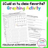 Spanish School Favorite Class Graphing Activity