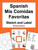 Spanish Foods - Favorite Foods Sketch and Label Activity
