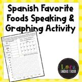 Spanish Favorite Foods Speaking & Graphing Activity