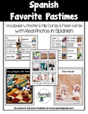 Spanish Favorite Pastimes 1 Vocabulary Posters & Flashcard