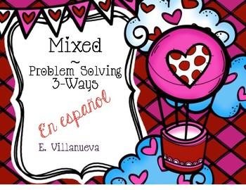 Spanish Feb. Math Problem Solving Scoot