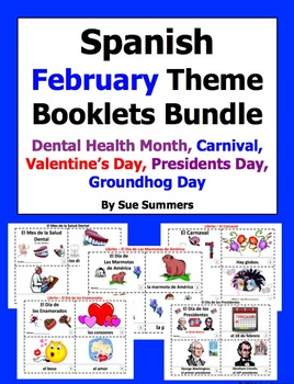Spanish February Theme Booklet Bundle - 5 Sets of 2 Booklets