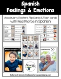 Spanish Feelings & Emotions Vocabulary Posters & Flashcards with Real Photos
