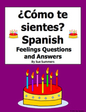 Spanish Feelings 12 Question Responses and Image IDs - Sentimientos