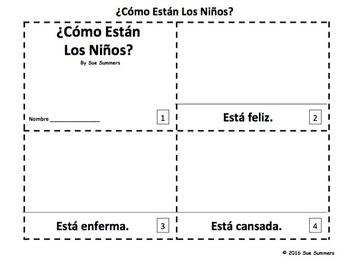 Spanish Feelings 2 Emergent Reader Booklets