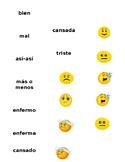 Spanish Feelings | Emoji Memoria game | ¿Cómo estás? vocab