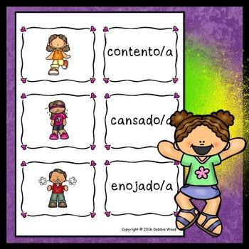 Spanish Conversation Cards Feelings