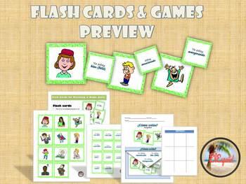 Spanish Feelings / Emotions Flash Cards & Games