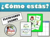 Spanish Feelings / Emotions Flash Cards & Games