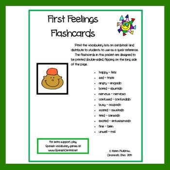 Spanish - First Feelings Flashcards