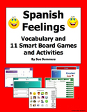 Spanish Feelings SmartBoard 11 Games and Activities, and Vocabulary