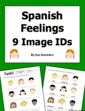 Spanish Feelings Vocabulary 9 Image IDs Worksheet - Los Sentimientos