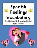 Spanish Feelings Vocabulary Reference English/Spanish and Spanish/English