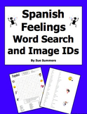 Spanish Feelings Word Search Puzzle, Vocabulary, and Image IDs
