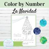 Spanish Feliz Navidad Color by Number