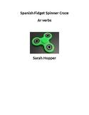 Spanish Fidget Craze-AR Verb worksheet
