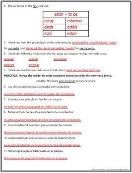 Spanish - Figure Out: Present Progressive