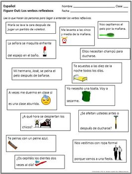 Spanish - Figure Out: Reflexive Verbs