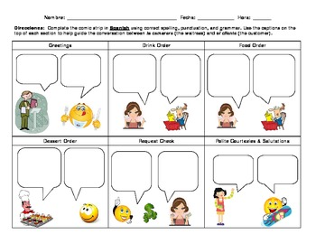 comic strip dialogue template  Blank Dialogue Comics Worksheets & Teaching Resources | TpT