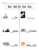 Spanish Fill the Blank (ba be bi bo bu)