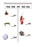 Spanish Fill the Blank (ma me mi mo mu)