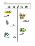 Spanish Fill the Blank (sa se si so su)