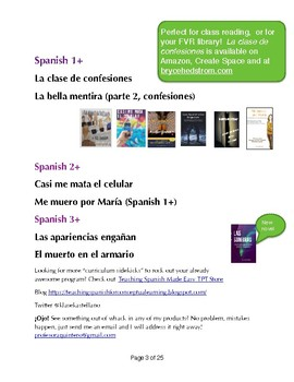 Free Spanish Film Unit-visuals, reading, speaking  writing and vocabulary