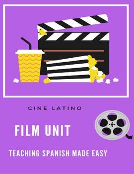 Free Spanish Film Unit-visuals, reading, speaking  writing