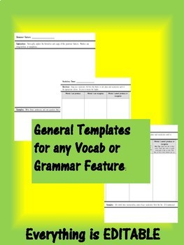 Spanish Final Exam Review Sheets for Any Grammar or Vocab Topic