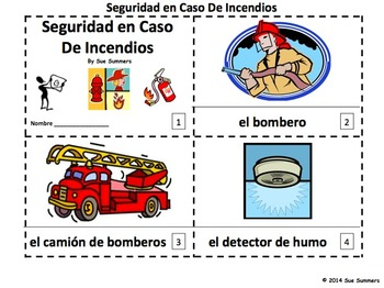 Spanish Fire Safety 2 Emergent Reader Booklets - 12 Pages