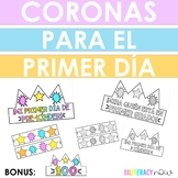 Spanish First Day of School Crowns! B&W + Color Options! PreK, K, and 1st!