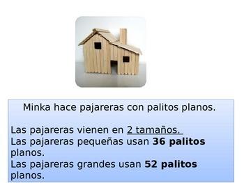 Spanish First Grade Chapter 6 Math Performance Task