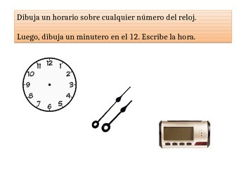 Spanish First Grade Chapter 9 Math Performance Task