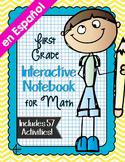 Spanish First Grade Math Interactive Notebook