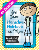 Spanish First Grade Math Interactive Notebook Bundle
