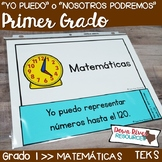 Spanish First Grade Math TEKS I Can Statements | Yo Puedo