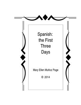 Spanish First Three Days Activities