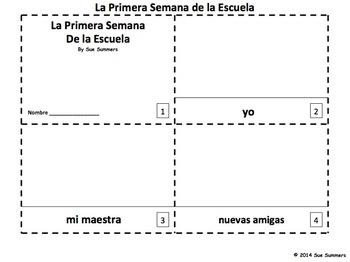Spanish First Week of School 2 Emergent Reader Booklets