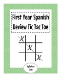 Spanish First Year Review Tic Tac Toe